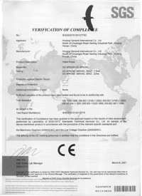 CE Certificate of Pellet Press